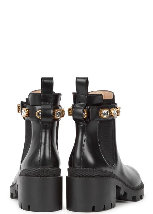 985b67282b5 Gucci 75 embellished leather Chelsea boots - Harvey Nichols