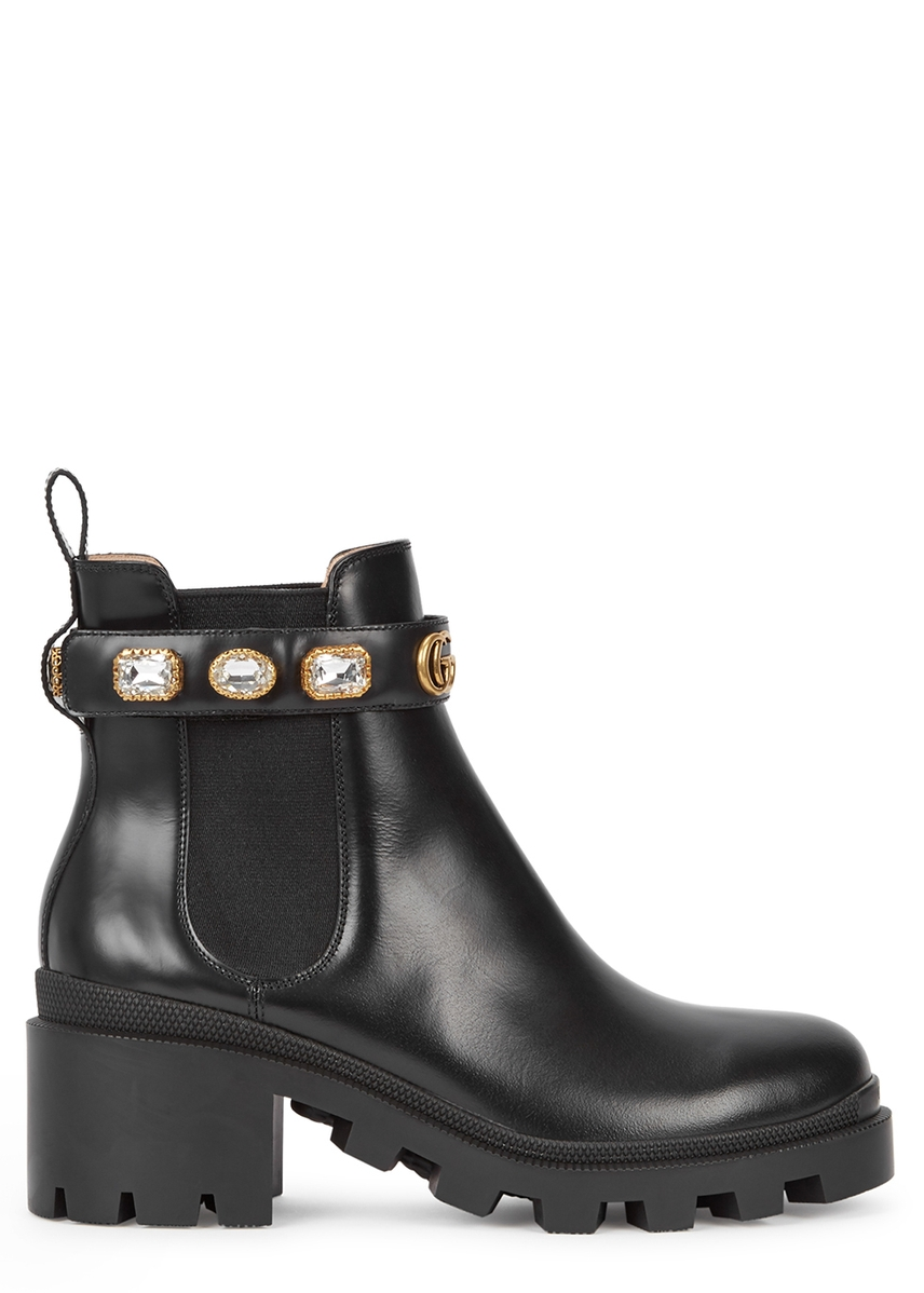 56559632d86 75 embellished leather Chelsea boots 75 embellished leather Chelsea boots.  Gucci