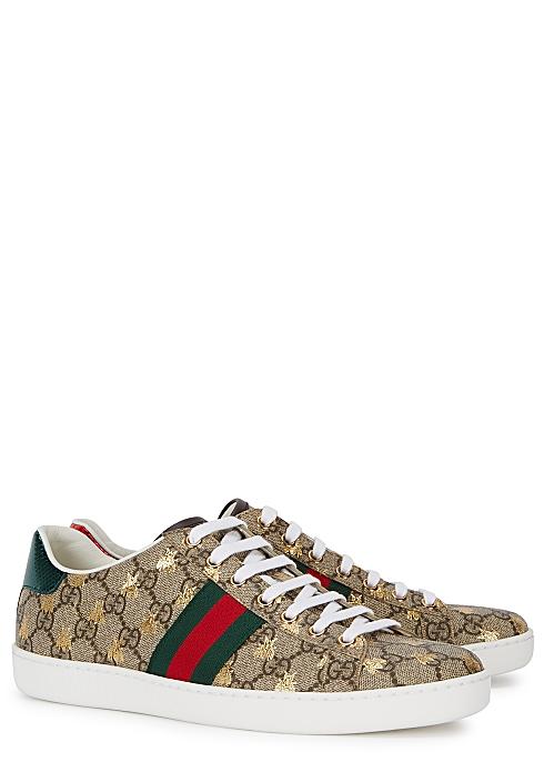 705fb18d8 Gucci New Ace GG Supreme bee-print sneakers - Harvey Nichols
