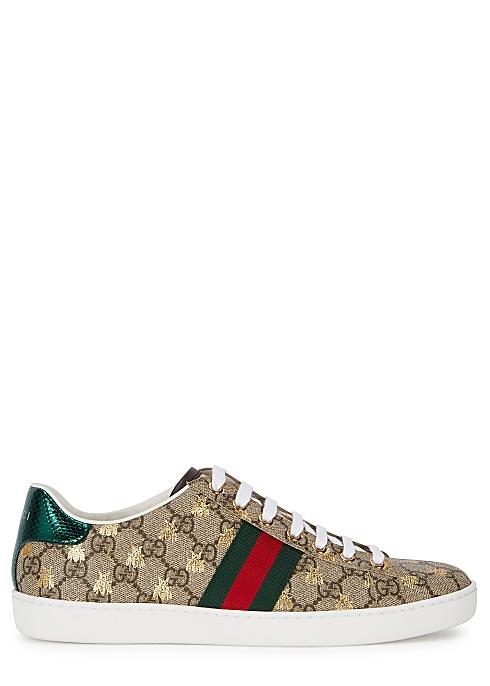 aa3e16c0c Gucci New Ace GG Supreme bee-print sneakers - Harvey Nichols