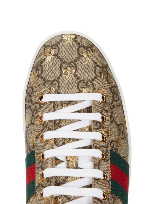 0c84cad1b8e Gucci New Ace GG Supreme bee-print trainers - Harvey Nichols