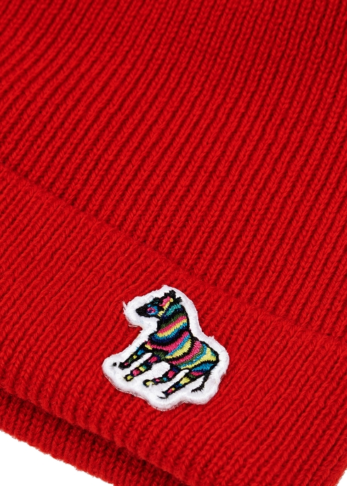 Paul Smith Zebra-appliquéd wool beanie - Harvey Nichols b58d38fa7d8