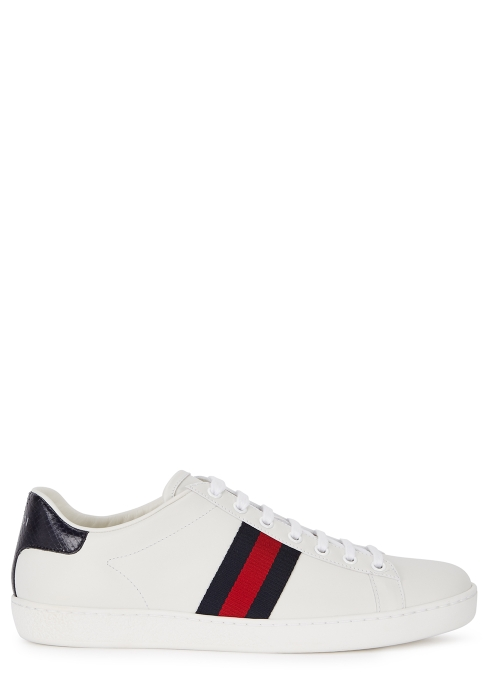 3f81f4bd2 Gucci New Ace off-white leather trainers - Harvey Nichols