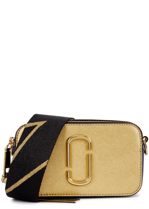 Marc Jacobs Snapshot gold leather shoulder bag - Harvey Nichols f4187e5274a