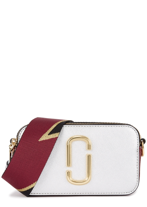 6b3e81d346a1 Marc Jacobs Snapshot silver leather shoulder bag - Harvey Nichols