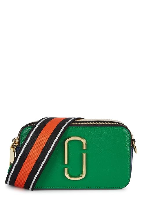 5eada8a0070d Marc Jacobs Snapshot green leather shoulder bag - Harvey Nichols