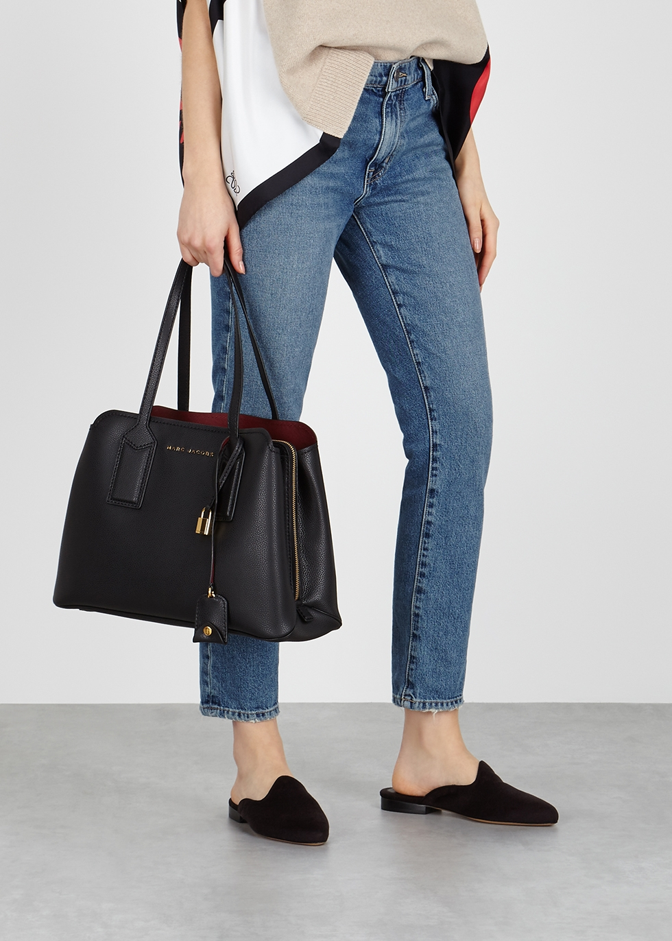 3c990a5dd098 Marc Jacobs The Editor black pebbled leather tote - Harvey Nichols