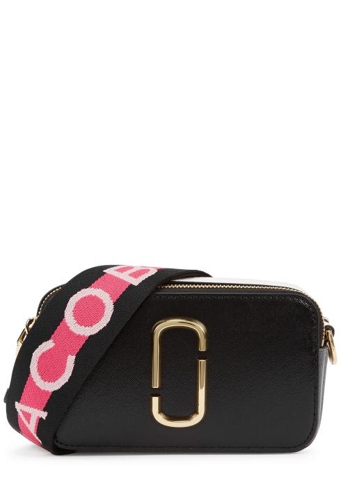 720e7001994d Marc Jacobs Snapshot black leather shoulder bag - Harvey Nichols