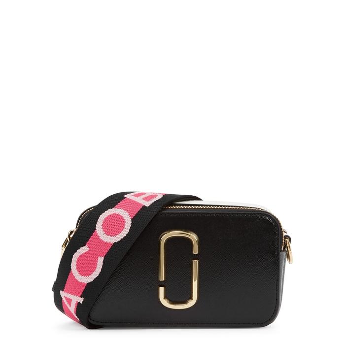 6694b2cf24a68 Marc Jacobs Snapshot Black Leather Shoulder Bag