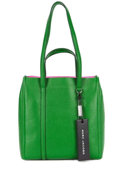 31672807bf48 Marc Jacobs The Tag green grained leather tote - Harvey Nichols