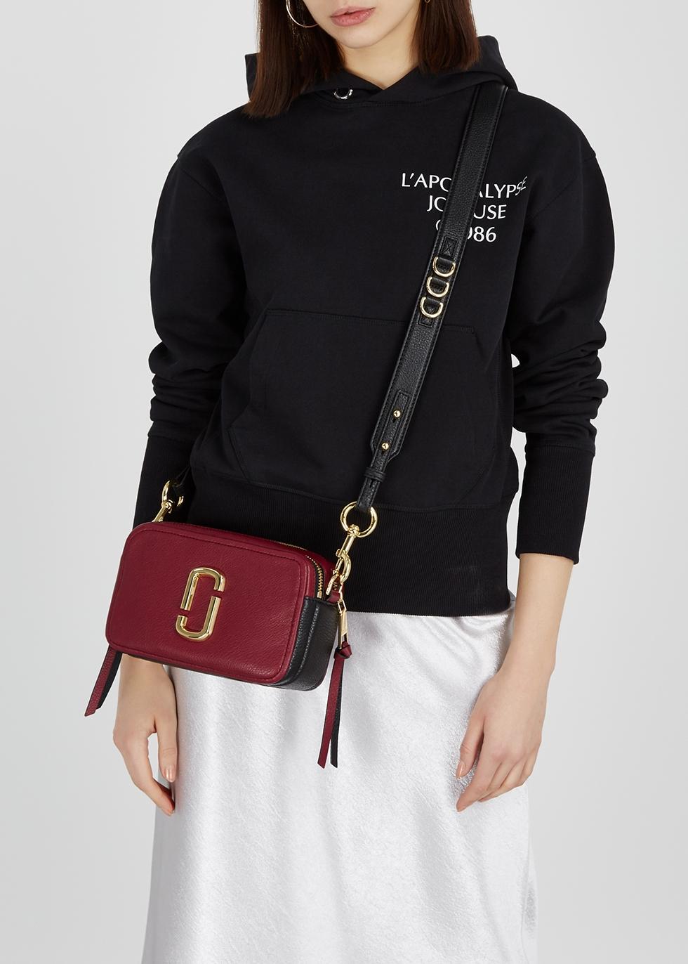 a6dc3d9bb366 Marc Jacobs Softshot 21 burgundy leather shoulder bag - Harvey Nichols