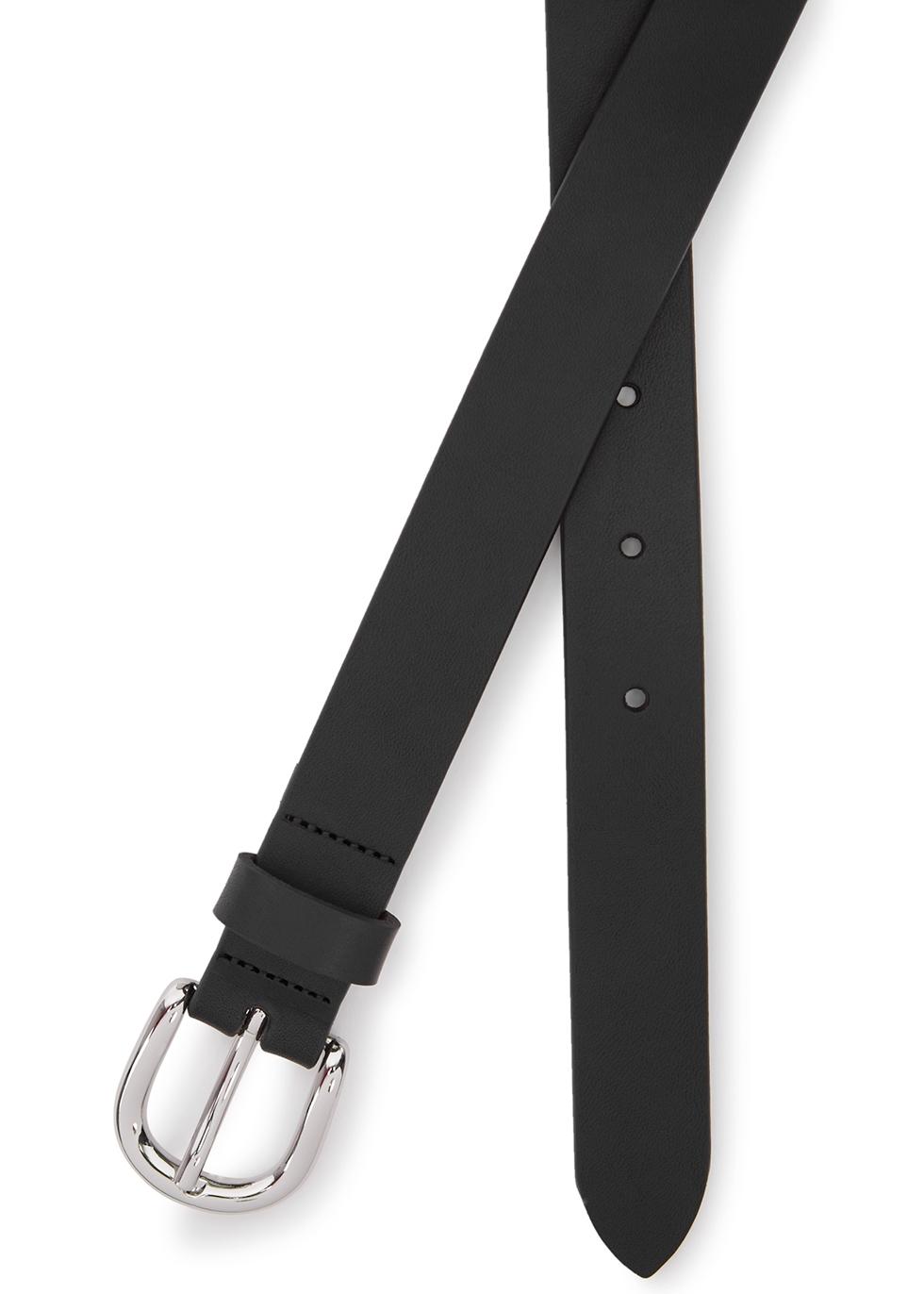 f9bf7f7987b2 Isabel Marant Étoile Zap black leather belt - Harvey Nichols