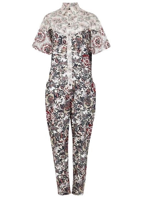 97df68ca3dbb Isabel Marant Étoile Lindsie printed cotton jumpsuit - Harvey Nichols