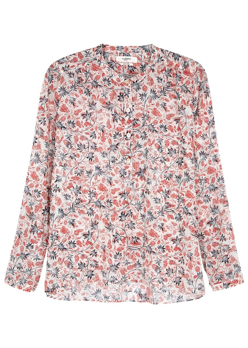 7291fe8e07f Maria printed semi-sheer cotton blouse ...