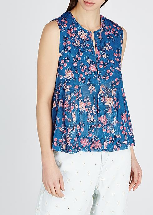 24ef97fa940 Isabel Marant Étoile Erney floral-print cotton top - Harvey Nichols