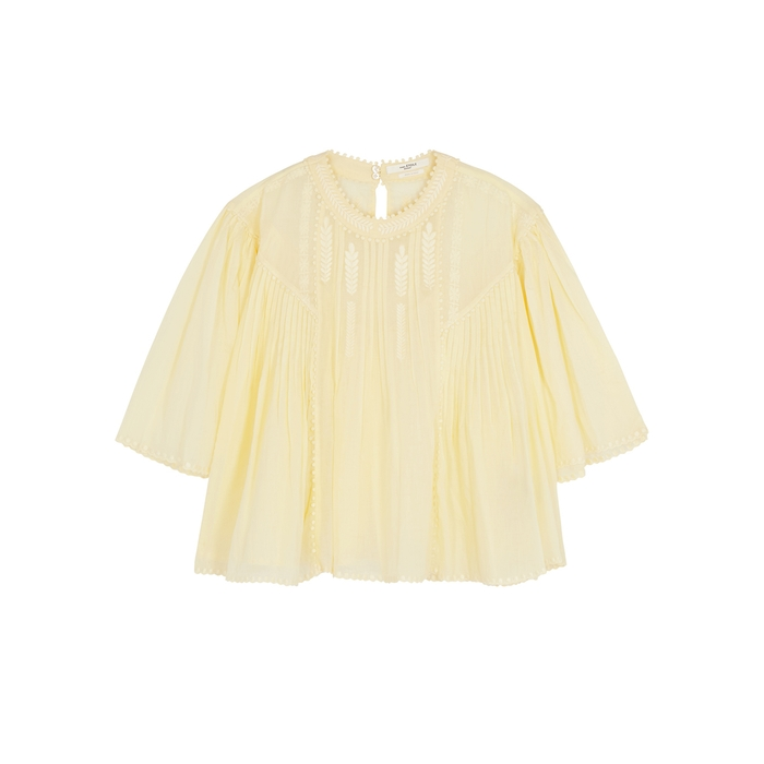 Etoile Isabel Marant Tops Algar embroidered cotton voile top
