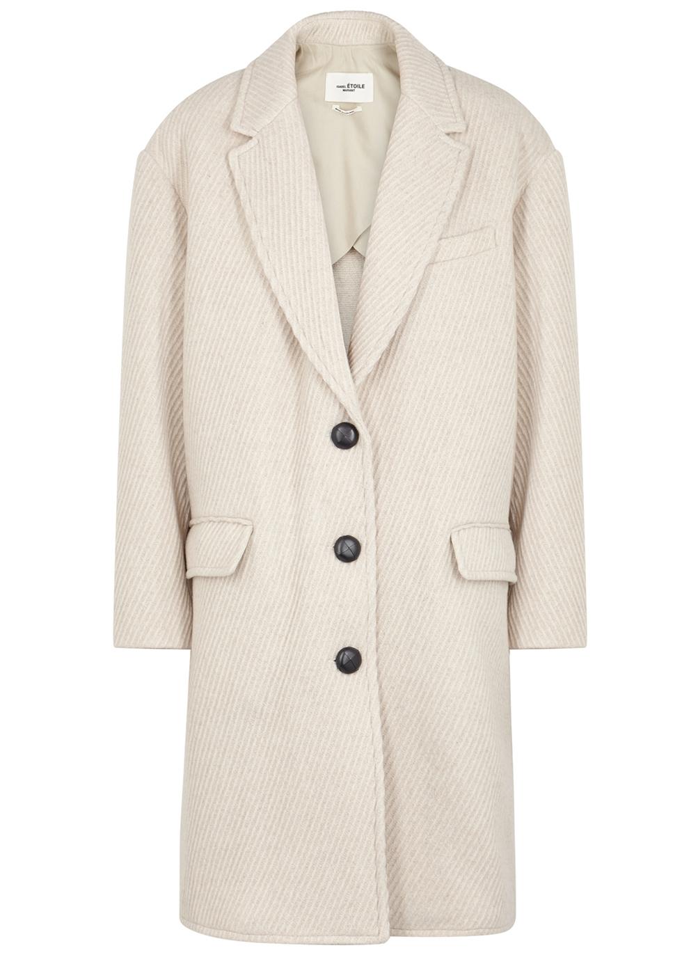 Gimi off-white wool-blend coat - Isabel Marant Étoile