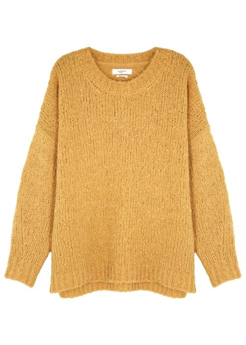 229a1c2b4b Isabel Marant Étoile Shana mustard knitted jumper - Harvey Nichols