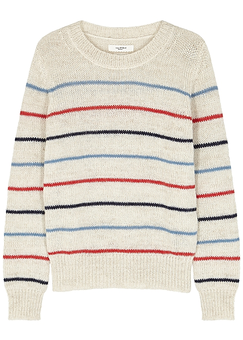 1bf104d58f Isabel Marant Étoile Gian striped alpaca-blend jumper - Harvey Nichols