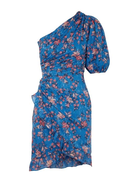 f513a2bfc505 Isabel Marant Étoile Esther printed one-shoulder cotton dress ...