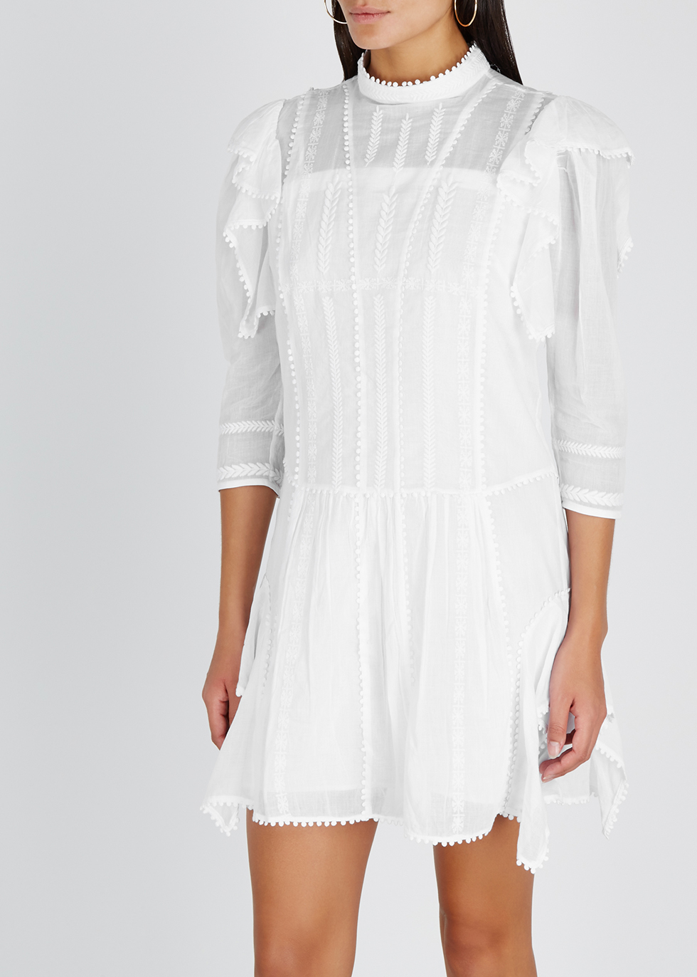 Alba embroidered cotton mini dress - Isabel Marant Étoile