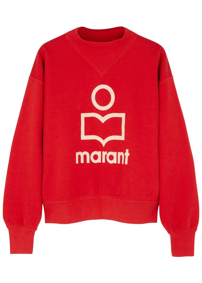 43c7afd2a6b45 Moby red logo cotton-blend sweatshirt Moby red logo cotton-blend  sweatshirt. New Season. Isabel Marant Étoile