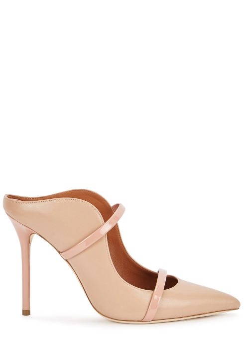 0ebecd5812b9 Malone Souliers Maureen 100 blush leather mules - Harvey Nichols
