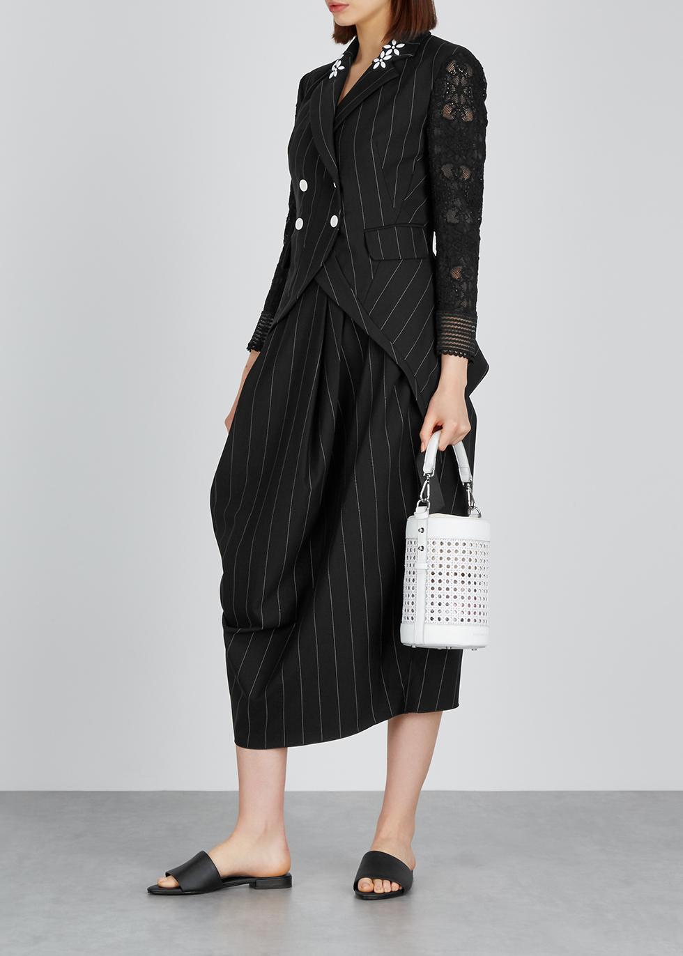 Black stretch-neoprene tulip skirt - HIGH