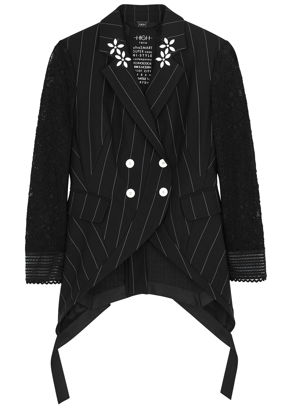 Black neoprene blazer - HIGH