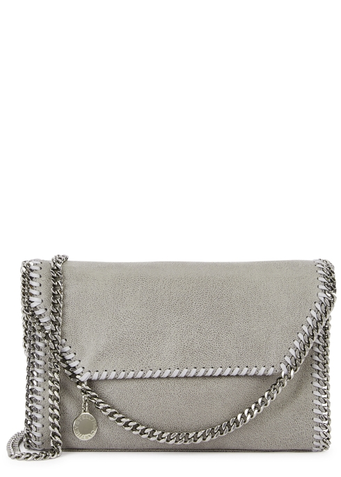 Stella McCartney Falabella mini faux suede shoulder bag - Harvey Nichols f630782d7e