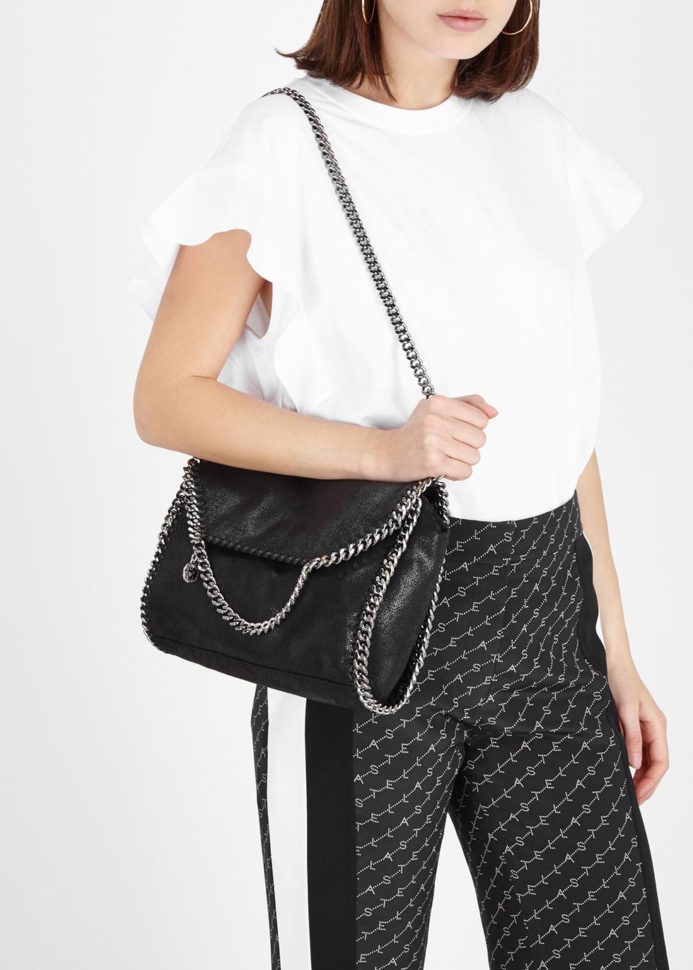 Stella McCartney Falabella faux suede shoulder bag - Harvey Nichols cfadcb6113