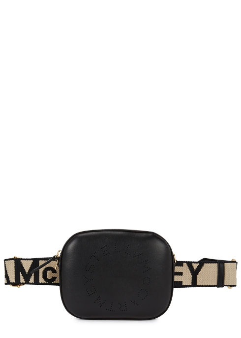 a451328d264 Stella McCartney Black logo faux leather belt bag - Harvey Nichols