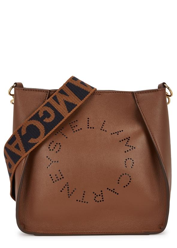 Stella Logo small faux leather cross-body bag ... e622a064bc