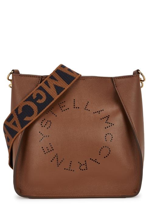 Stella McCartney Stella Logo small faux leather cross-body bag ... e5c043b0e9b15