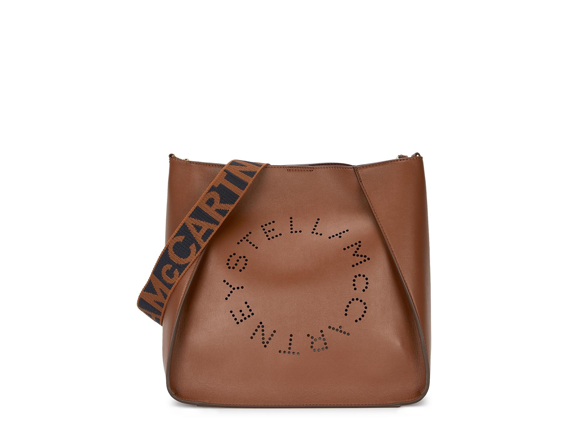 Stella McCartney Stella logo medium faux-leather cross-body bag - Harvey  Nichols ca33f8d1f5