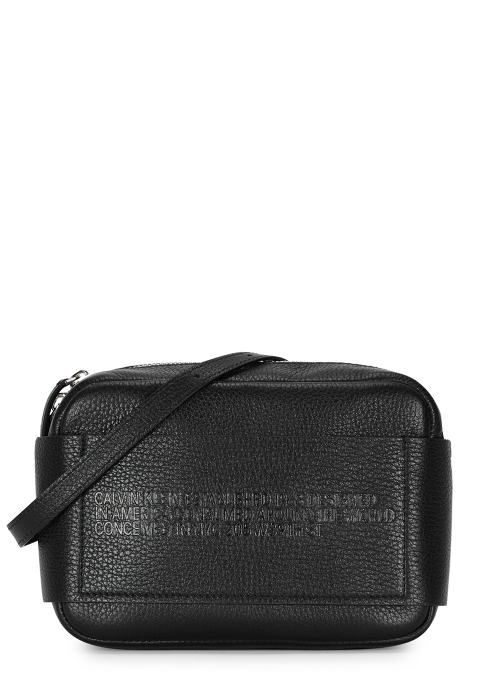 Belle black logo-embossed leather cross-body bag - Calvin Klein 205W39NYC 27370054f54