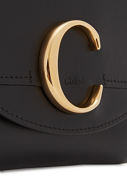 b6077617 Chloé Small black leather wallet - Harvey Nichols