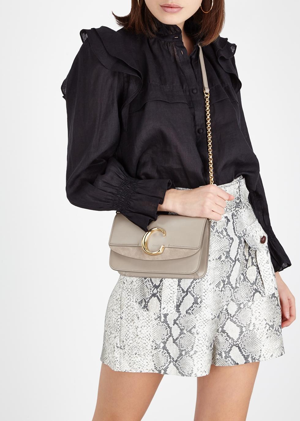 a9dda9459614a Chloé Chloé C mini leather shoulder bag - Harvey Nichols