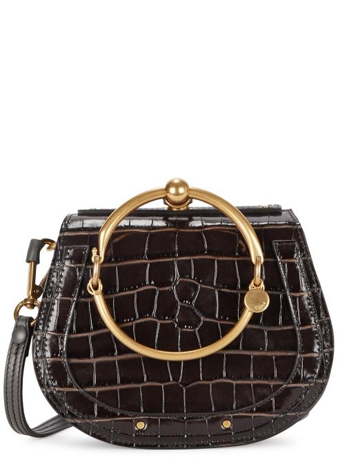 43288ab47833 Chloé Nile crocodile-effect leather cross-body bag - Harvey Nichols
