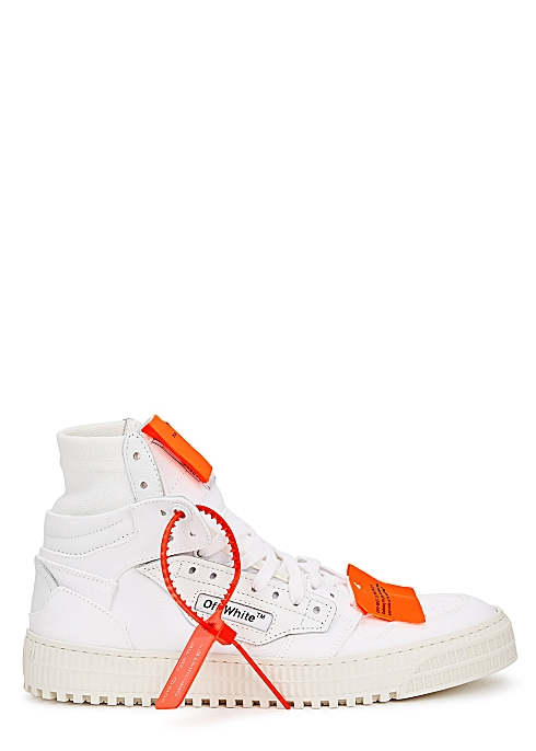 0c5a1087b9d1b0 Off-White Off-Court 3.0 white canvas hi-top sneakers - Harvey Nichols