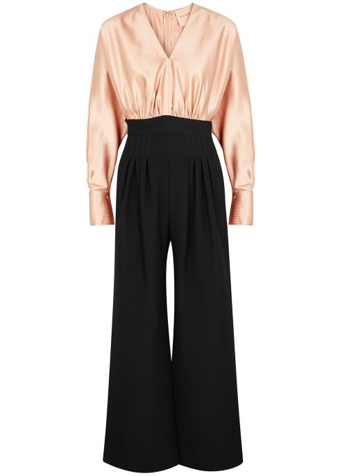 b2cf3d9c098f Roksanda Ella wide-leg silk-blend jumpsuit - Harvey Nichols