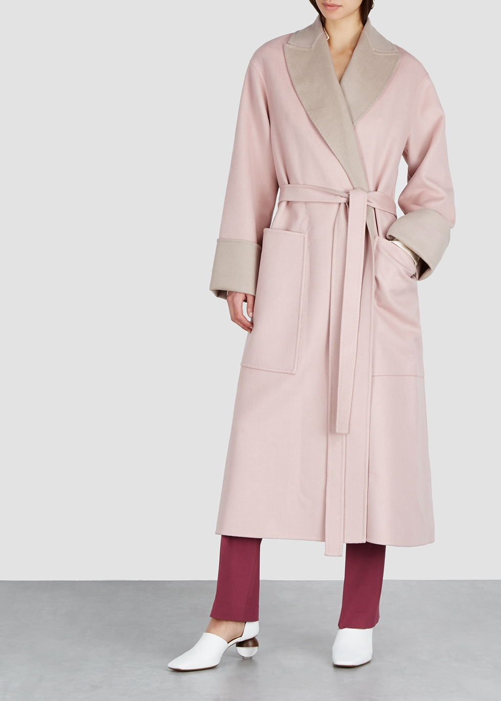 Marley two-tone wool-blend coat - Roksanda
