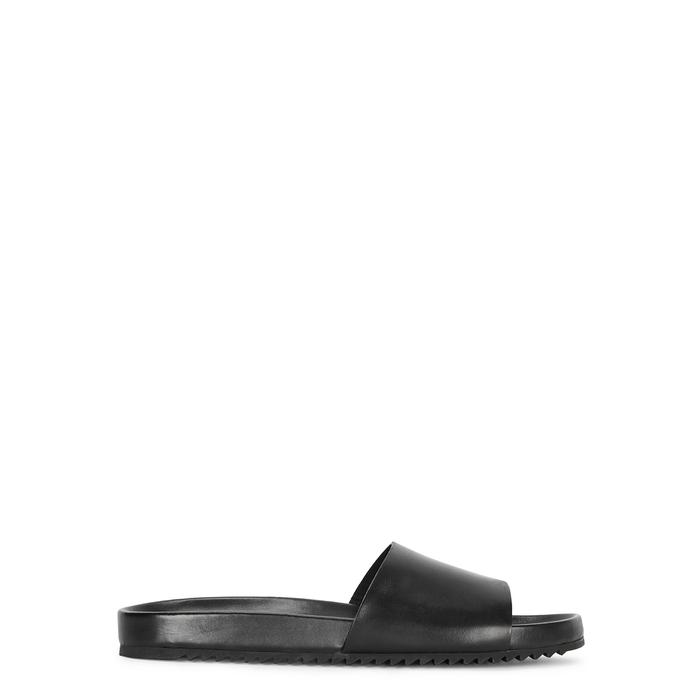 Grenson Slippers KENDRICK BLACK LEATHER SLIDERS