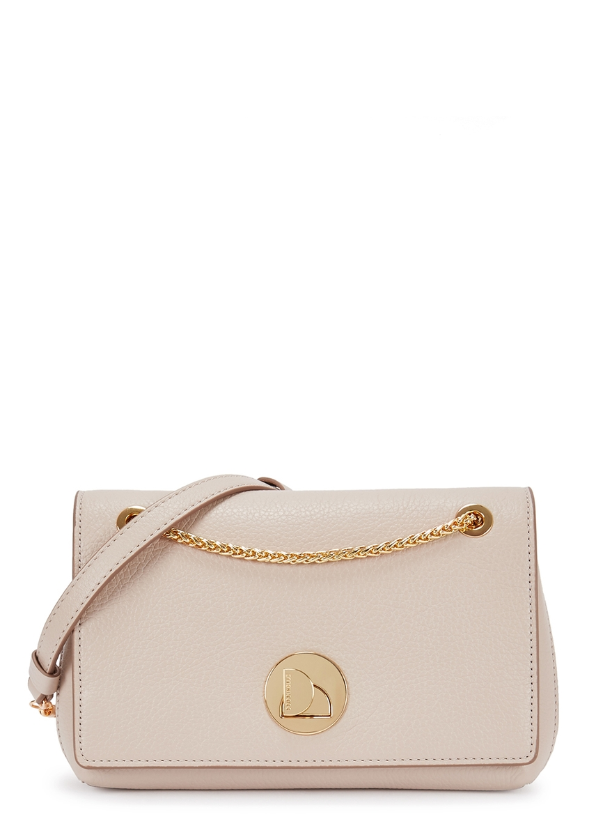 a4ff38f3c54d Liya taupe leather cross-body bag ...