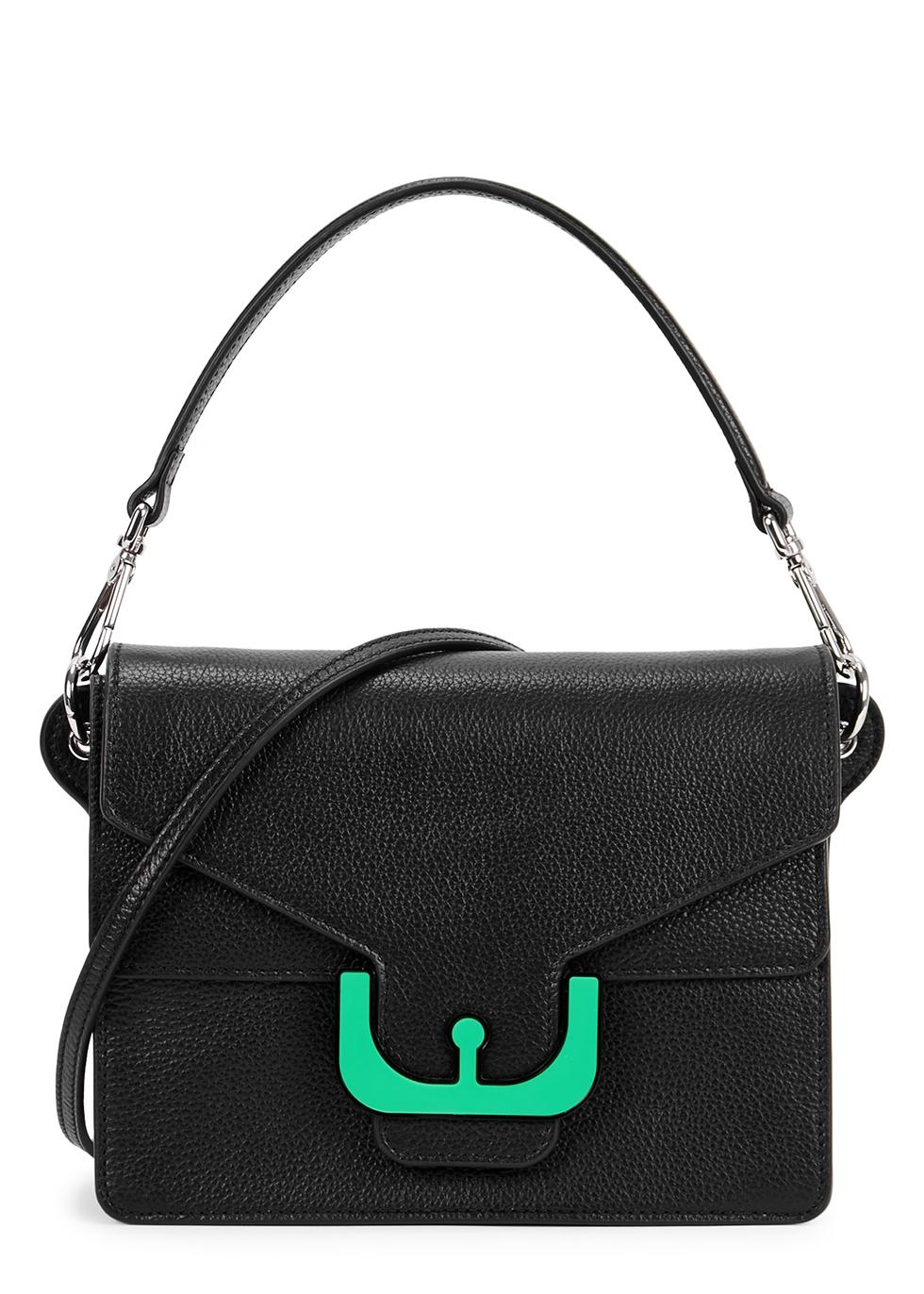 Ambrine Black Leather Shoulder Bag
