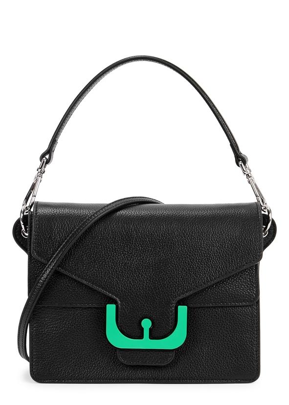 Ambrine black leather shoulder bag ... 9049d9d0091ab