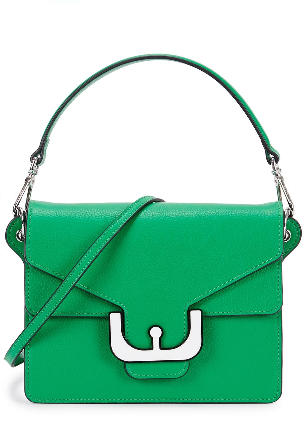 Ambrine Green Leather Shoulder Bag