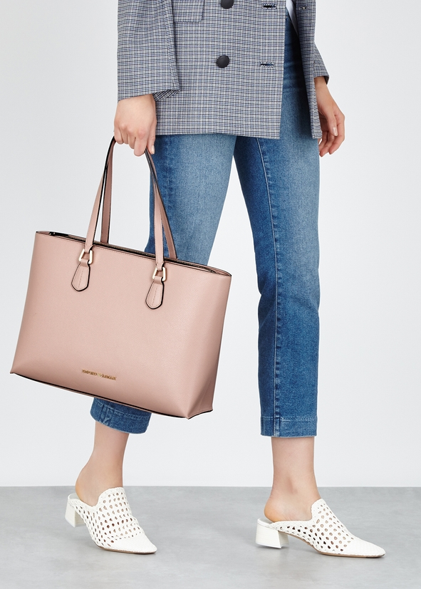 6feefe3b0576 Emporio Armani. Pink faux leather cross-body bag.  ‌190.00 · Pink faux  leather tote Pink faux leather tote