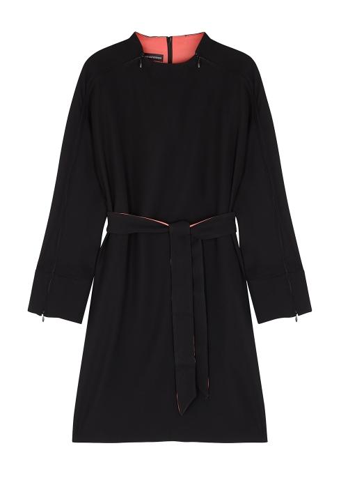 9e9ce3d6017 Emporio Armani Black belted dress - Harvey Nichols