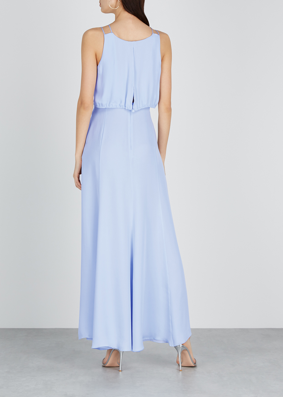Light blue silk georgette maxi dress - Emporio Armani